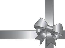 серебр тесемки подарка Стоковая Фотография RF