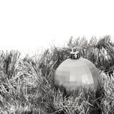 серебр украшения рождества стоковая фотография rf