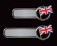 серебр флага знамен великобританский checkered бесплатная иллюстрация