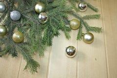 серебр шариков золотистый Стоковая Фотография RF