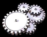 серебр шестерен Стоковое Изображение