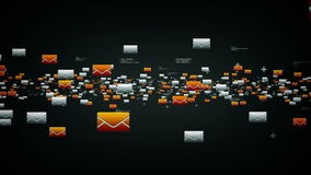 Серебр электронных почт иллюстрация вектора