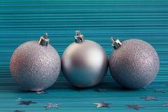 серебр 3 рождества шариков Стоковые Изображения