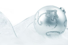 серебр bauble стоковые фото