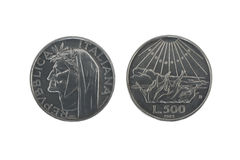 серебр dante 2 монеток Стоковое Фото
