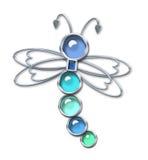 серебр dragonfly иллюстрация вектора