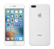 Серебр iPhone 8 Яблока добавочный Стоковое фото RF