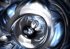 серебр metall 02 син Стоковая Фотография RF