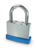 серебр padlock Стоковое Изображение RF