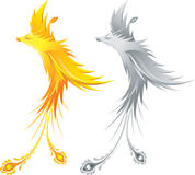 серебр phoenix золота Стоковое фото RF