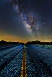 Середина млечного пути дороги Стоковое Фото