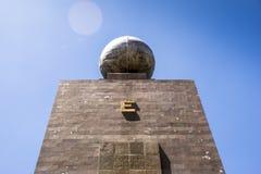Середина памятника мира в эквадоре Стоковые Фотографии RF