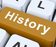 Середины ключа истории прошлые или старые дни Стоковая Фотография RF