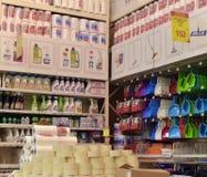 Середины для очищать предпосылки магазина оборудования Стоковое Фото