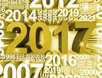 20 17 середин 2017 год и ежегодного перевод 3d Стоковое Изображение