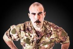 Сержант-инструктор по строевой подготовке с свистком Стоковые Изображения RF
