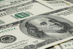 Серии 100 банкнот доллара, предпосылки Стоковая Фотография
