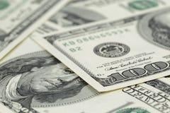 Серии 100 банкнот доллара, предпосылки Стоковые Фотографии RF