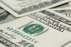 Серии 100 банкнот доллара, предпосылки Стоковая Фотография RF