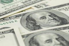 Серии 100 банкнот доллара, предпосылки Стоковое Изображение