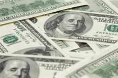 Серии 100 банкнот доллара, предпосылки Стоковые Фото