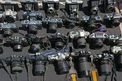 Серии винтажных камер в блошинном стоковые изображения rf