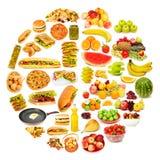 серии еды круга Стоковая Фотография RF