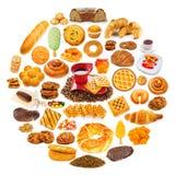 серии еды круга Стоковое фото RF