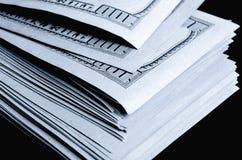 Серии 100 из долларовых банкнот Стоковое Изображение