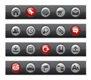 серии интернета кнопки штанги распологают сеть Стоковые Изображения