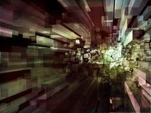 серии компьютера произведенные кубиками прозрачные Стоковая Фотография RF