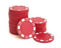 Серии красных обломоков покера Стоковая Фотография RF