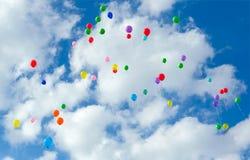 Серии красочный летать воздушных шаров Стоковые Изображения RF