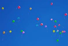 Серии красочный летать воздушных шаров Стоковые Фото