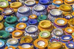 Серии красочных ashtrays Стоковые Фото