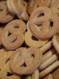 Серии кренделей сахара стоковое изображение