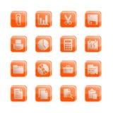 серии офиса иконы запашут вектор Стоковое Фото