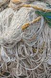Серии рыболовных сетей и веревочки Стоковое Фото