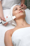 серии салона чистки красотки снимают кожу с ультразвука Стоковые Изображения RF