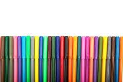 Серии сортированных ручек отметки цветов изолированных на белой предпосылке Стоковые Фотографии RF