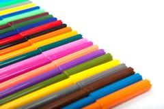 Серии сортированных ручек отметки цветов изолированных на белой предпосылке Стоковое Фото
