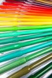 Серии сортированных ручек отметки цветов Стоковая Фотография RF