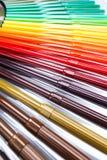 Серии сортированных ручек отметки цветов Стоковые Фото