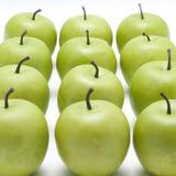 серии яблок кудрявые зеленые Стоковая Фотография RF
