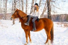 серии riding лошади девушки чертежа vector западное одичалое Стоковые Изображения RF