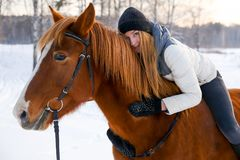 серии riding лошади девушки чертежа vector западное одичалое Стоковое Фото