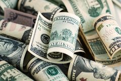 Серия американских долларов Стоковое Изображение RF