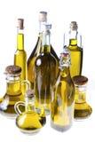 Серия бутылок оливкового масла Стоковые Изображения