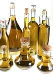 Серия бутылок оливкового масла Стоковое Фото