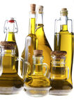 Серия бутылок оливкового масла Стоковое фото RF